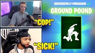 STREAMERS Reacts TO *NEW* 'Ground Pound' Emote/Dance In Fortnite! (Fortnite Moments)