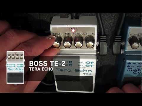 Boss TE-2 Tera Echo effects pedal audio/settings demo