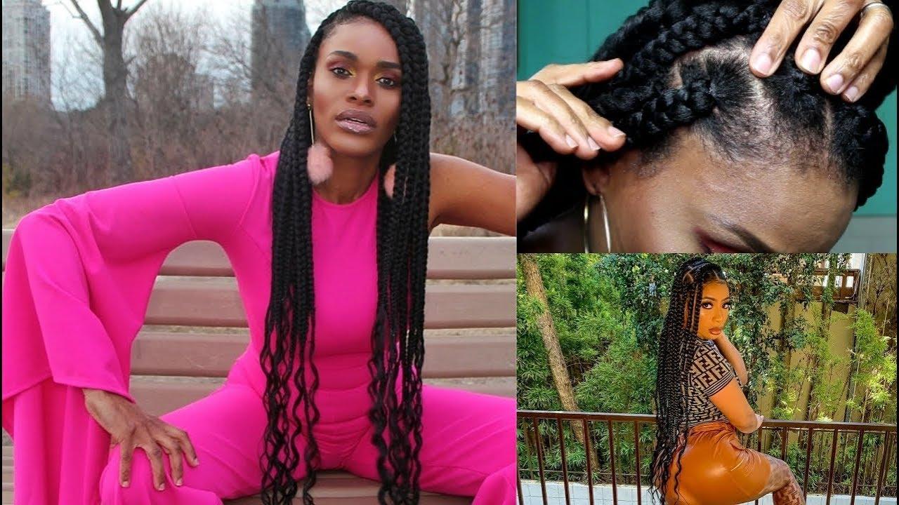 Quot Knotless Quot Goddess Big Box Braids Easy Crochet Rubberband