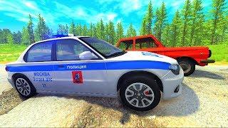Полицейские машины ГАИ и Русские дороги| Мультфильм про машинки