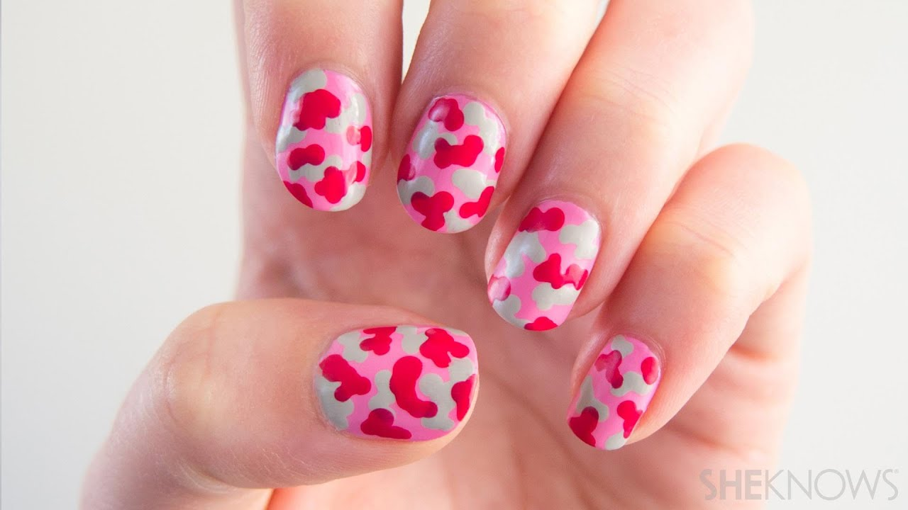 Nail art designs easy nail art ideas to do at home how to do easy nail art at home youtube - Easy nail design ideas to do at home ...