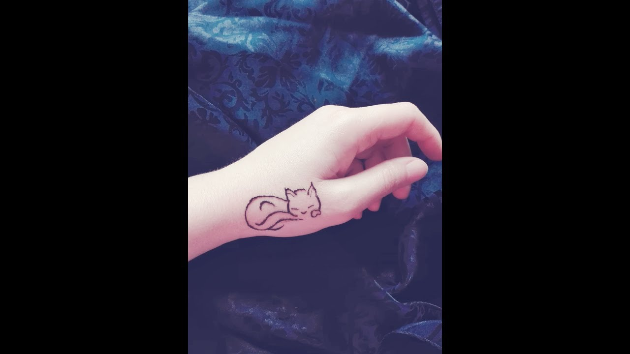 How To Draw Cute Cat Animal Easy Henna Design Tutorial Youtube