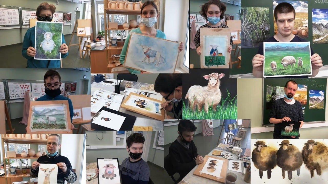 Похвастушки художественной мастерской: Живописный проект «Исландская овечка»
