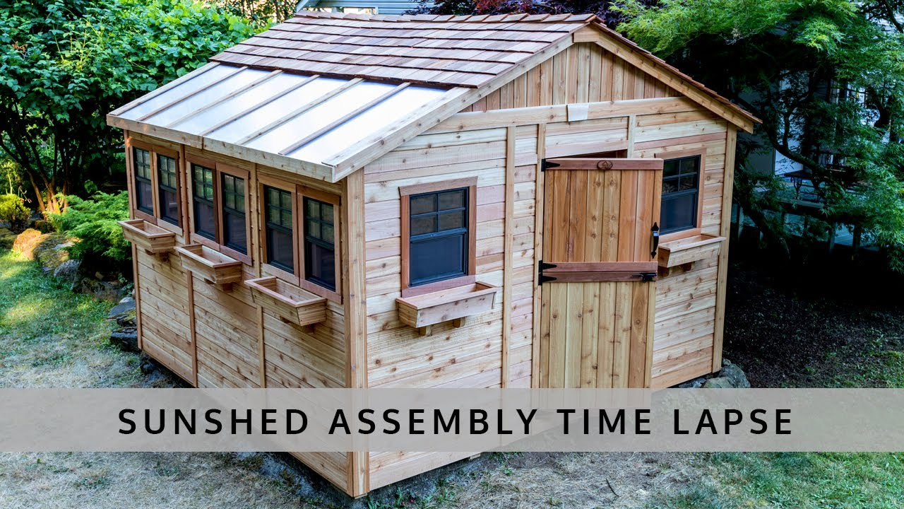 12x12 Cedar Sunshed Kit Time-Lapse - Outdoor Living Today