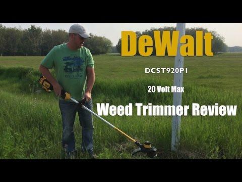 DeWalt 20 Volt Max String Trimmer DCST920P1 Review YouTube