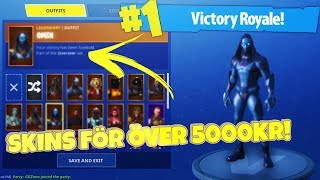MY WINS/SKINS WORTH - 5500KR -Fortnite Battle Royale en Anglais