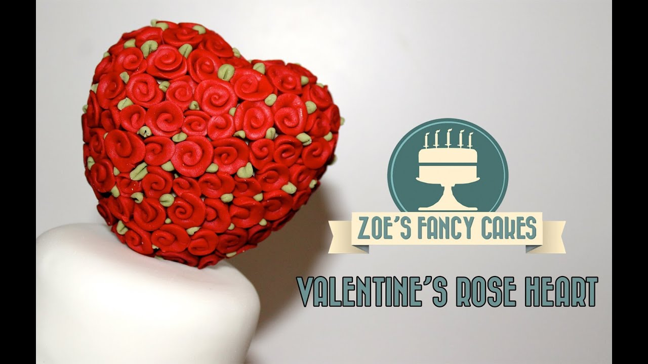 How to make a valentines rose heart cake decorating and - How to decorate a heart cake ...
