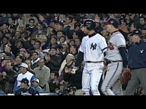 1996 WS Gm2: Jeter's first World Series hit