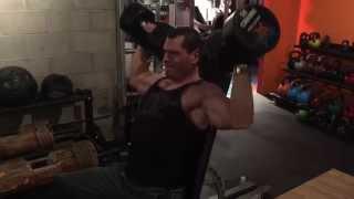 85 pound 39 kg Shoulder Dumbbell Press