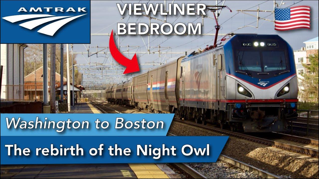 Washington D.C. to Boston with Amtrak NEW sleeper service on the Northeast Regional