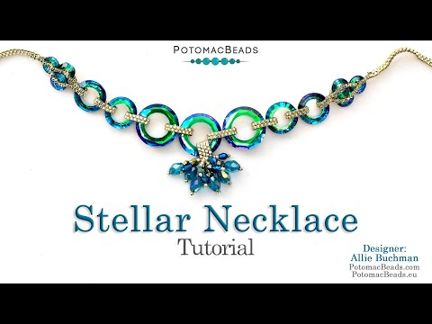 Stellar Necklace - DIY Jewelry Making Tutorial by PotomacBeads
