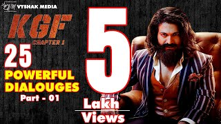 Top 25 KGF Powerful Dialogues Part 1