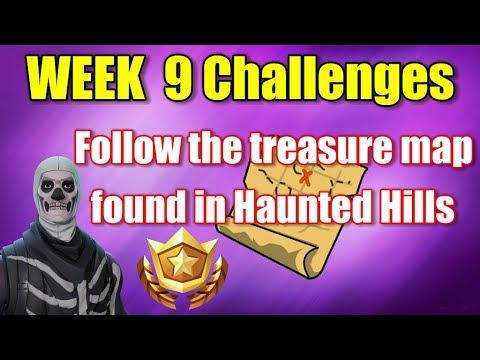 Fortnite - Follow The Treasure Map Found In Haunted Hills (Week 9 Challenge)