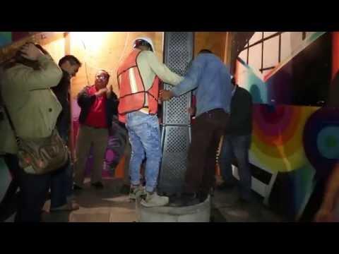 Colocación de Postes - Iluminación de la Catedral de la Ciudad de México