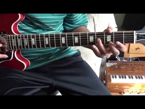 How To Play Vande Maataram On A  Guitar - Explained Using Gibson ES 339
