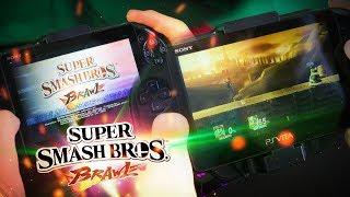 Jugando al Super Smash Bros en la PS Vita!