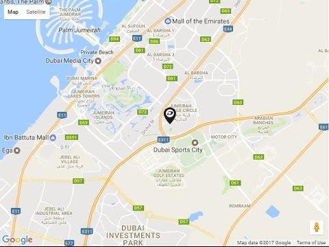 damac tower 108 location map jumeirah village circle dubai uae