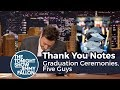 thank you notes graduation ceremonies five guys