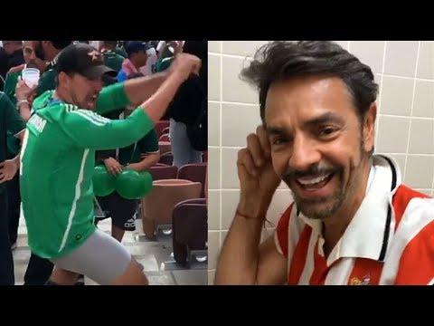 Eugenio Derbez y su hijo Vadhir hacen locuras en Rusia durante el Mundial