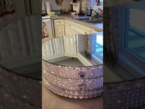 wedding-rotating-cake-stand-with-mirror