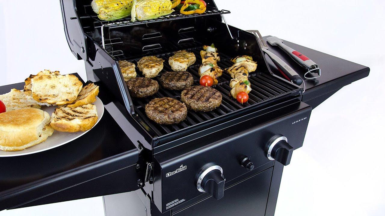 char broil advantage 2 burner gas grill youtube. Black Bedroom Furniture Sets. Home Design Ideas