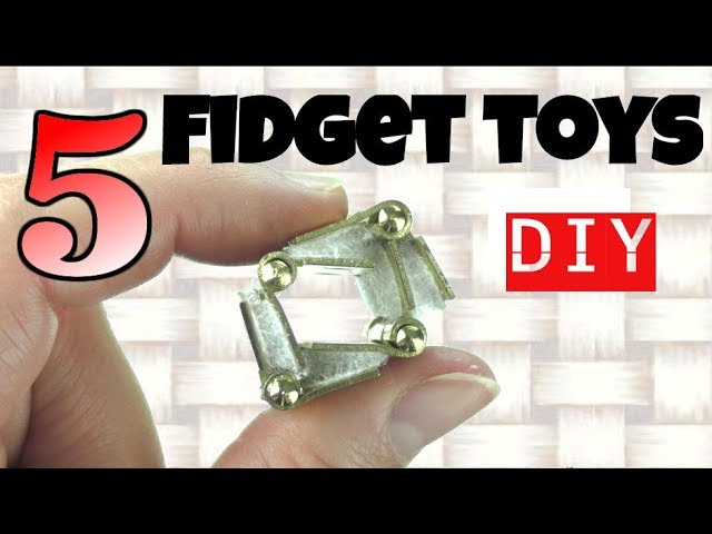NEW! FUN EASY DIY FIDGET TOYS - EASY DIYS -  FIDGET TOYS  FOR KIDS TO MAKE USING HOUSEHOLD MATERIALS