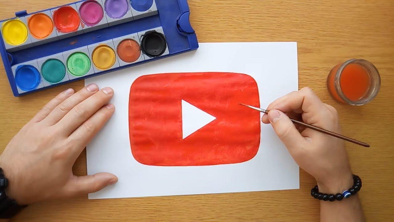 How To Draw A Youtube Play Button Youtube Logo Youtube Icon Youtube