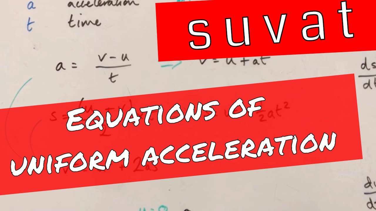 Equations of Linear Motion or Uniform Acceleration - A Level ...