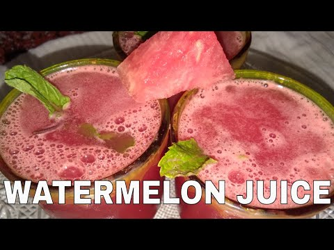 Fresh Home made Watermelon Juice Recipe
