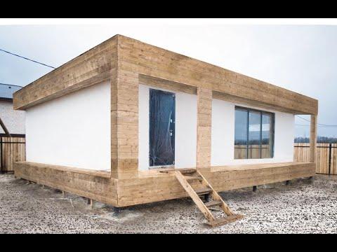 Из чего состоит силовой каркас одноэтажного дома в стиле хай тек с плоской кровлей