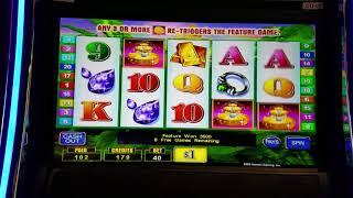 Lucky Fountain high limit slot jackpot handpay $40 bet bonus retrigger