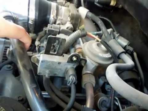 1997 Ford Expedition 54L V8 Triton Differential Pressure Feedback DPFE Sensor Location  YouTube