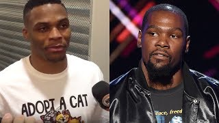 Russell westbrook hits back at kevin durant with a petty cat shirt