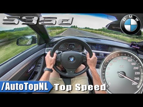 BMW 5 Series Touring F11 535d AUTOBAHN POV TOP SPEED by AutoTopNL