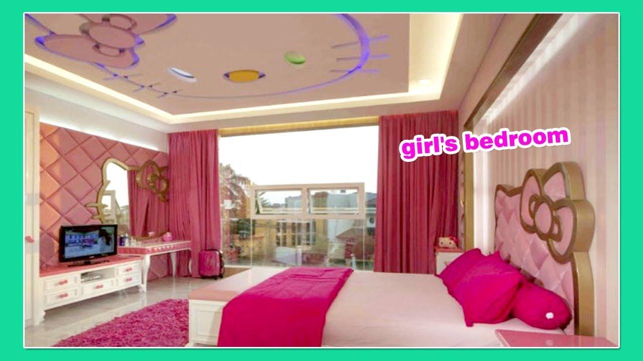 24 Desain cantik Plafon Kamar Tidur Anak Perempuan - YouTube