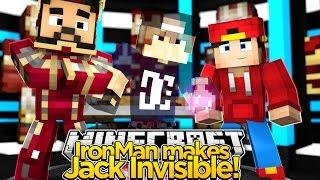 Minecraft Adventure - IRON-MAN MAKES JACK GO INVISIBLE!!!