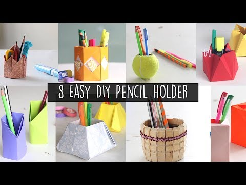 8 Easy DIY Pencil Holder | Paper Craft | Back to School