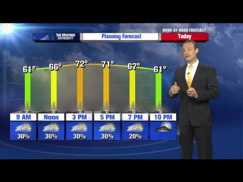 Rusty Lord's Hour by Hour Forecast to plan your day -- 7am Update