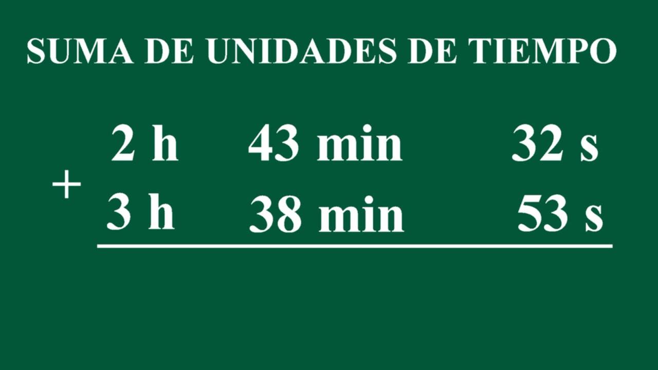 Suma de unidades de tiempo horas minutos y segundos - Tiempo en puertollano por horas ...