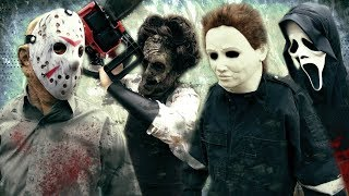 JASON VOORHEES vs LEATHERFACE vs GHOSTFACE vs MICHAEL MYERS | Horror Battle Fan Film