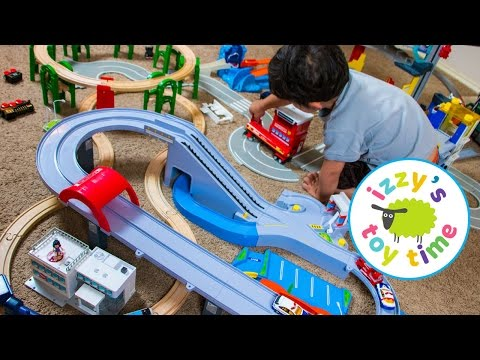 Thomas and Friends with Thomas Train, Tomica, Hot Wheels, and Fast Lane | Fun Toy Trains for Kids