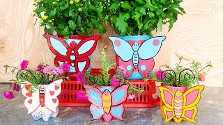 Reciclar Garrafas Pet em Vasos de Flores de Borboleta