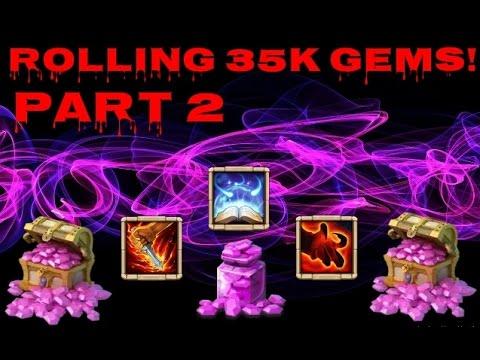 Castle Clash Rolling 35k Gems Part 2!