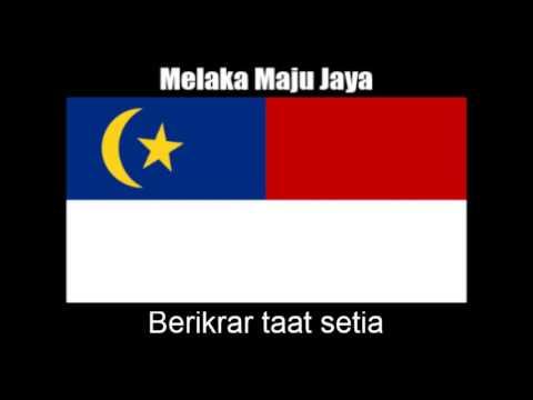 Malaysian State Anthem Of Melaka Melaka Maju Jaya Nightcore Style With Lyrics Youtube
