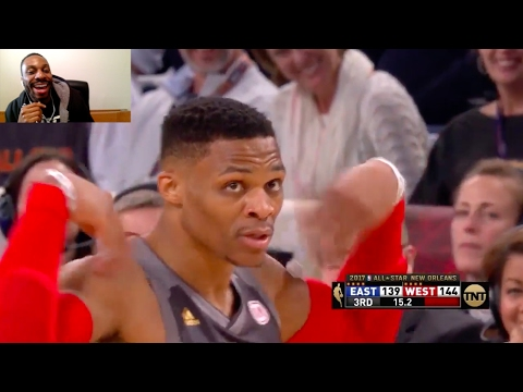 2017 NBA All Star Game Reaction! Durant Throws Alley Oop to Westbrook! MVP Anthony Davis 52 Points!