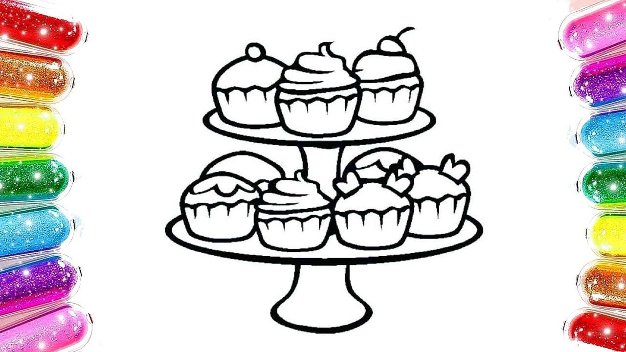 Renkli Cup Cake Boyama Renkli Kekler Cocuk Sarkilari Youtube