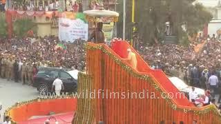 Narendra Modi's procession during campaign in Varanasi before Lok Sabha election 2019