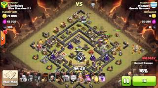 Clash of Clans - WAR vs War Machine 2.1 - TH9 vs TH9