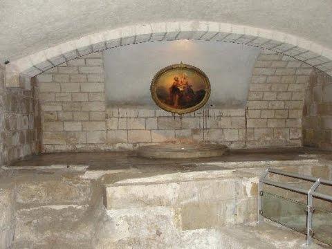 St. Joseph's Church, Nazareth - a basin, a winepress,baptismal font or a Jewish ritual bath?