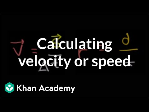 Calculating average velocity or speed | One-dimensional motion | Physics | Khan Academy